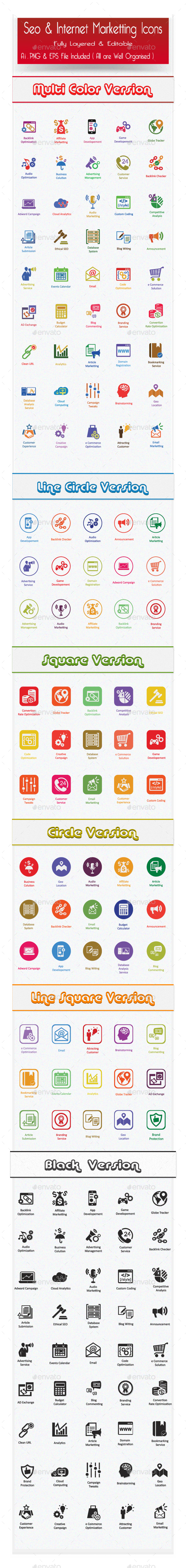 GraphicRiver SEO Services Icons and Web Marketing Icons 11358846