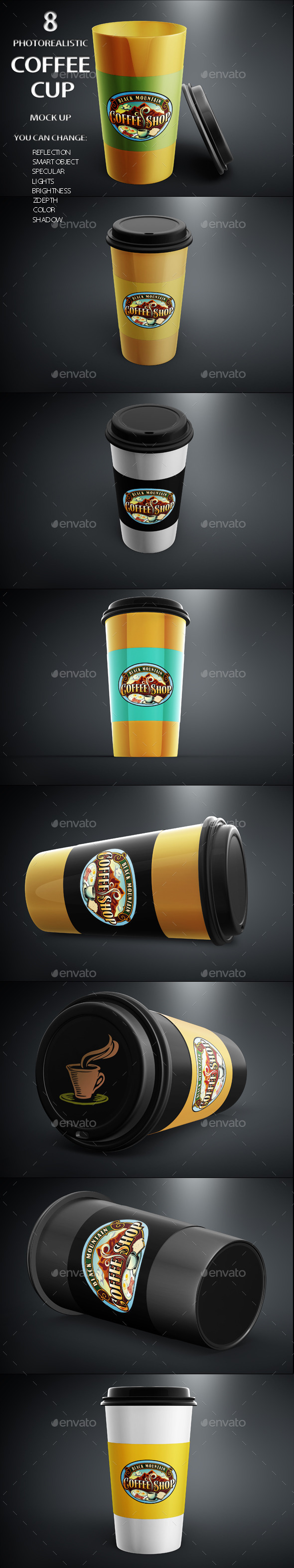 GraphicRiver Coffee Cup Mock Up 11358854