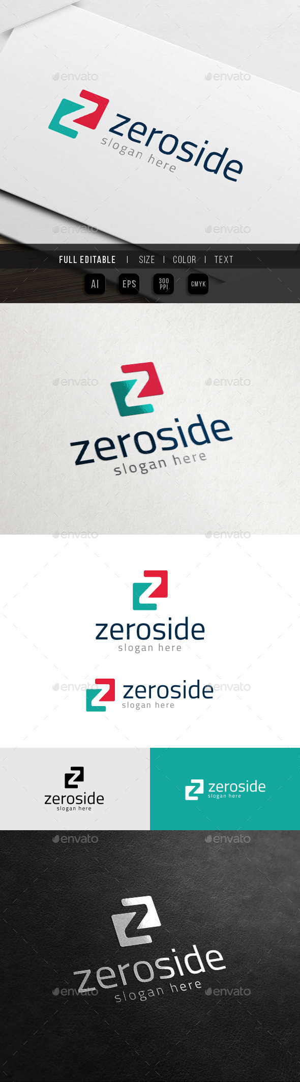 GraphicRiver Zero Side Business Marketing Z Logo 11358865