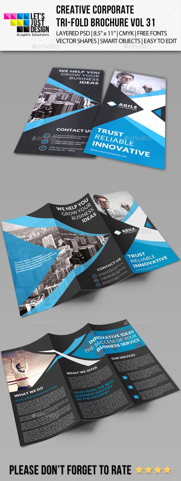 GraphicRiver Creative Corporate Tri-Fold Brochure Vol 31 11360566