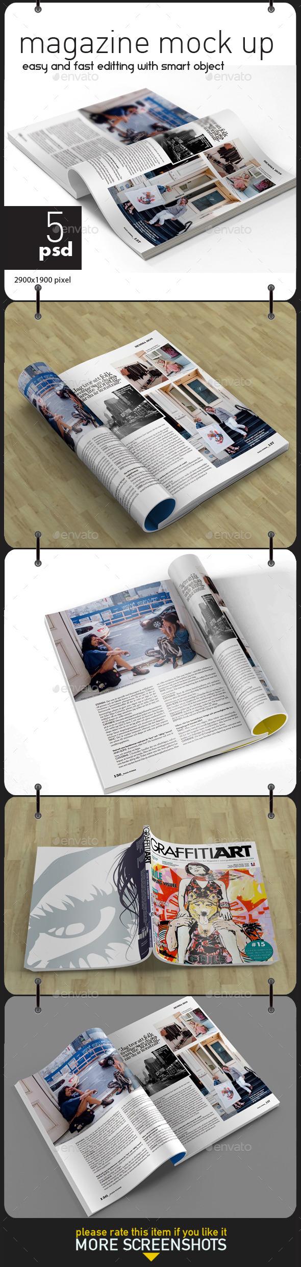 GraphicRiver Magazine Mock Up 11360569