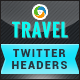 Travel Twitter Headers - 2 Designs - GraphicRiver Item for Sale