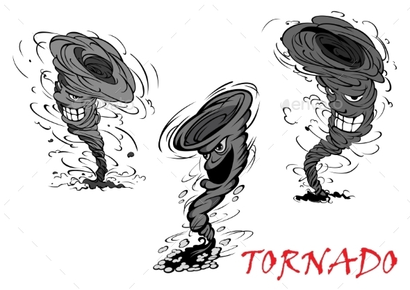 GraphicRiver Cartoon Tornado 11360940