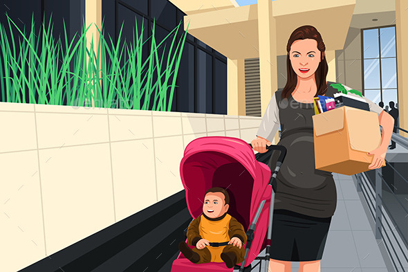 GraphicRiver Pregnant Woman Leaving Her Job 11361005