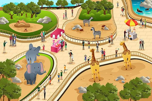 GraphicRiver Scene in a Zoo 11361007