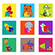 Alphabet Animals From A to I - GraphicRiver Item for Sale