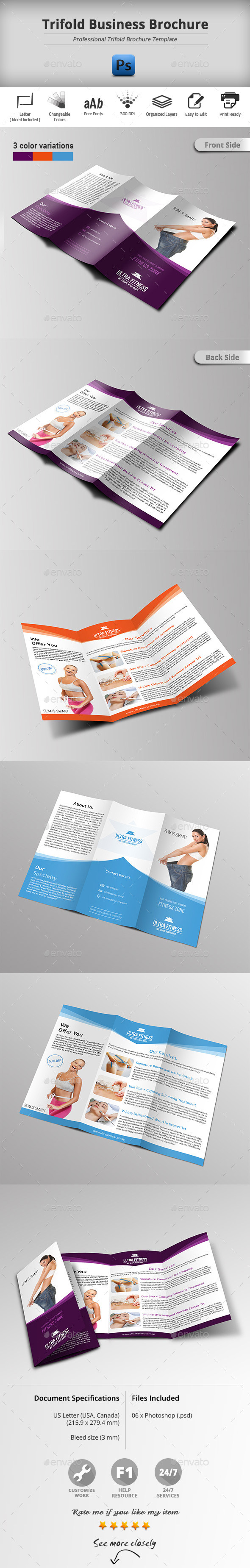 GraphicRiver Trifold Business Brochure 11361030