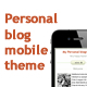Personal blog mobile theme - ThemeForest Item for Sale