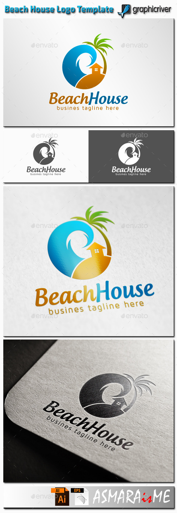 GraphicRiver Beach House Logo 11361080