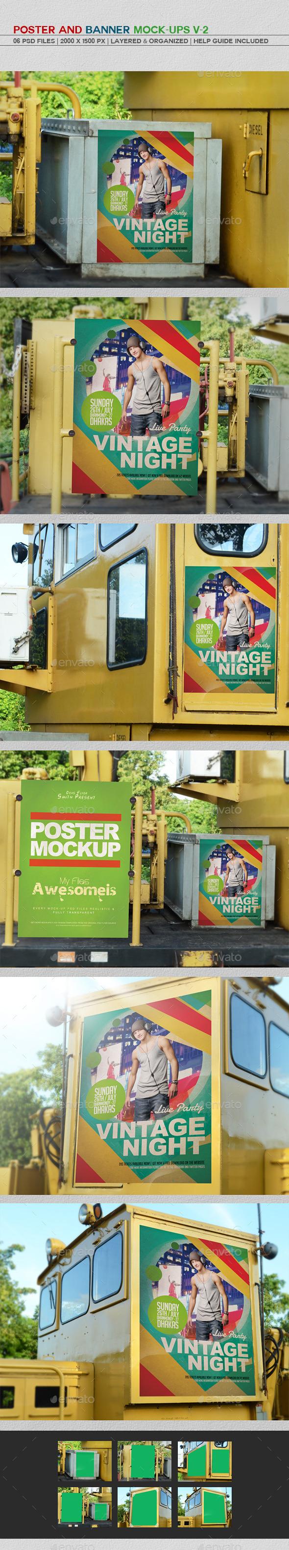 GraphicRiver Poster And Banner Mockups V-2 11361133
