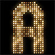 Alphabet Flashing Lights Panel VJ Led Wall Lights  - VideoHive Item for Sale