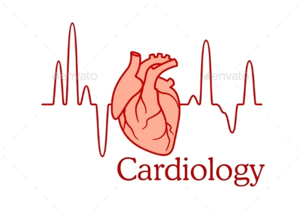 GraphicRiver Cardiology Concept with an ECG and Heart 11361260