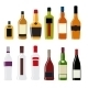 Illustration of Alcohol Bottle Silhouettes - GraphicRiver Item for Sale