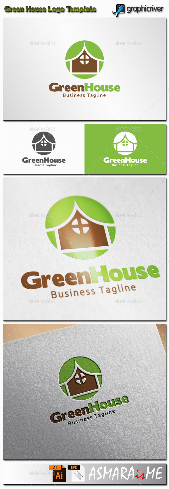 GraphicRiver Green House Logo 11361345