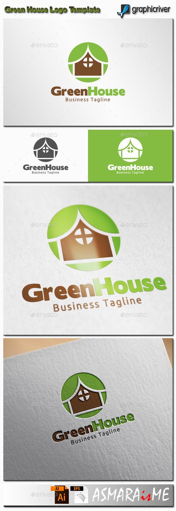 GraphicRiver Green House Logo 11361345