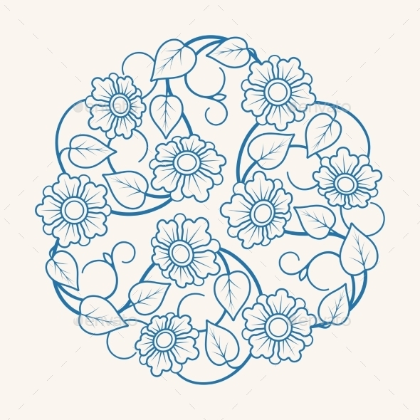 GraphicRiver Round Floral Ornament 11361525