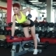 Sexy Female Athlete Exercising With Dumbbells - VideoHive Item for Sale
