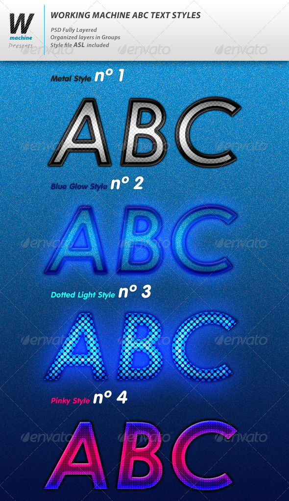 Graphic River ABC Text Styles Add-ons -  Photoshop  Styles  Text Effects 140182