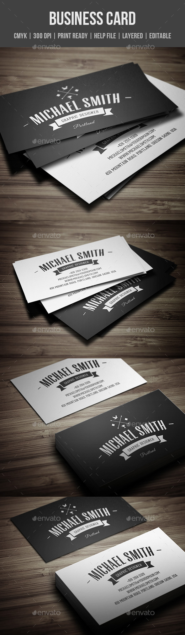 GraphicRiver Vintage Personal Business Card 11298481