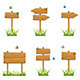 Set of Wooden Signs in Grass - GraphicRiver Item for Sale
