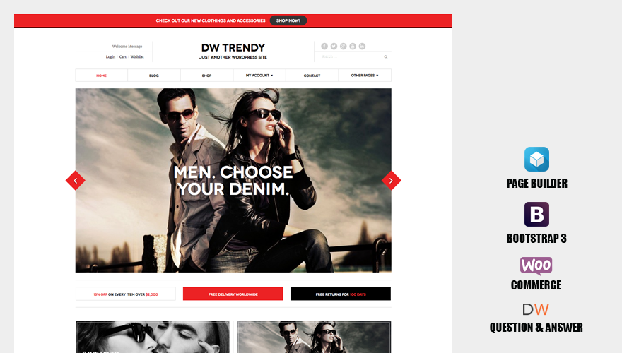 DW Trendy - Responsive WooCommerce WordPress Theme
