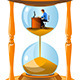 Office Worker Inside an Hourglass - GraphicRiver Item for Sale