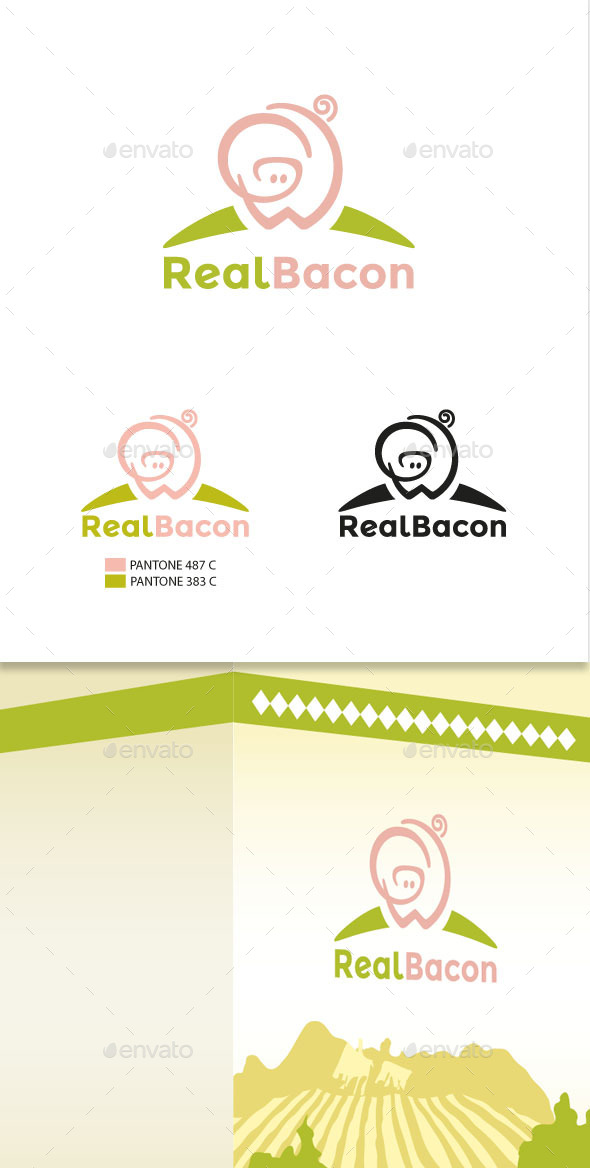 GraphicRiver Pork Meat Products Logo Template 11362736