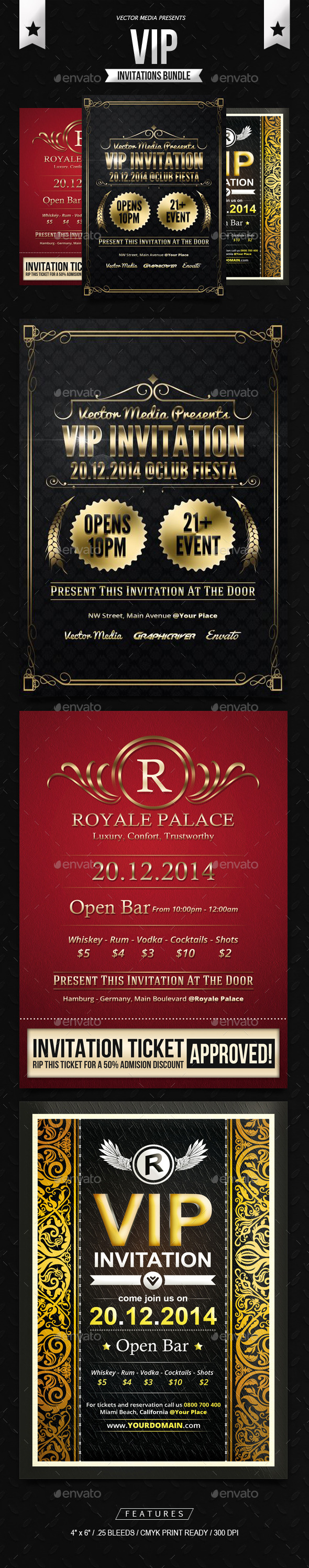 GraphicRiver VIP Invitations Bundle 11362742