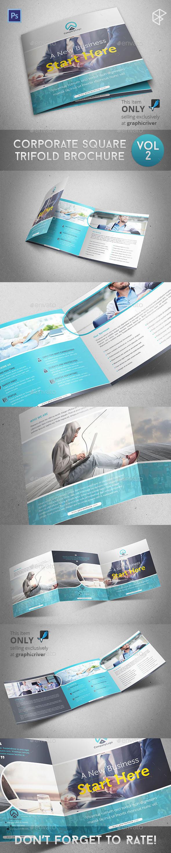 GraphicRiver Corporate Square Trifold Brochure Vol 2 11362829