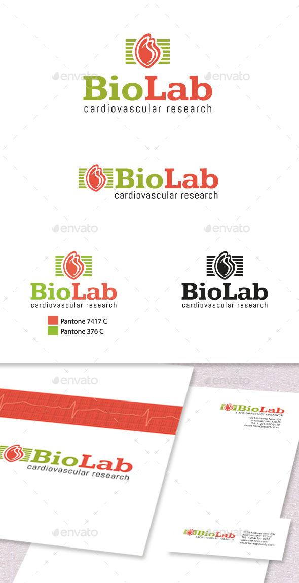 GraphicRiver Medical Laboratory Logo Template 11362973