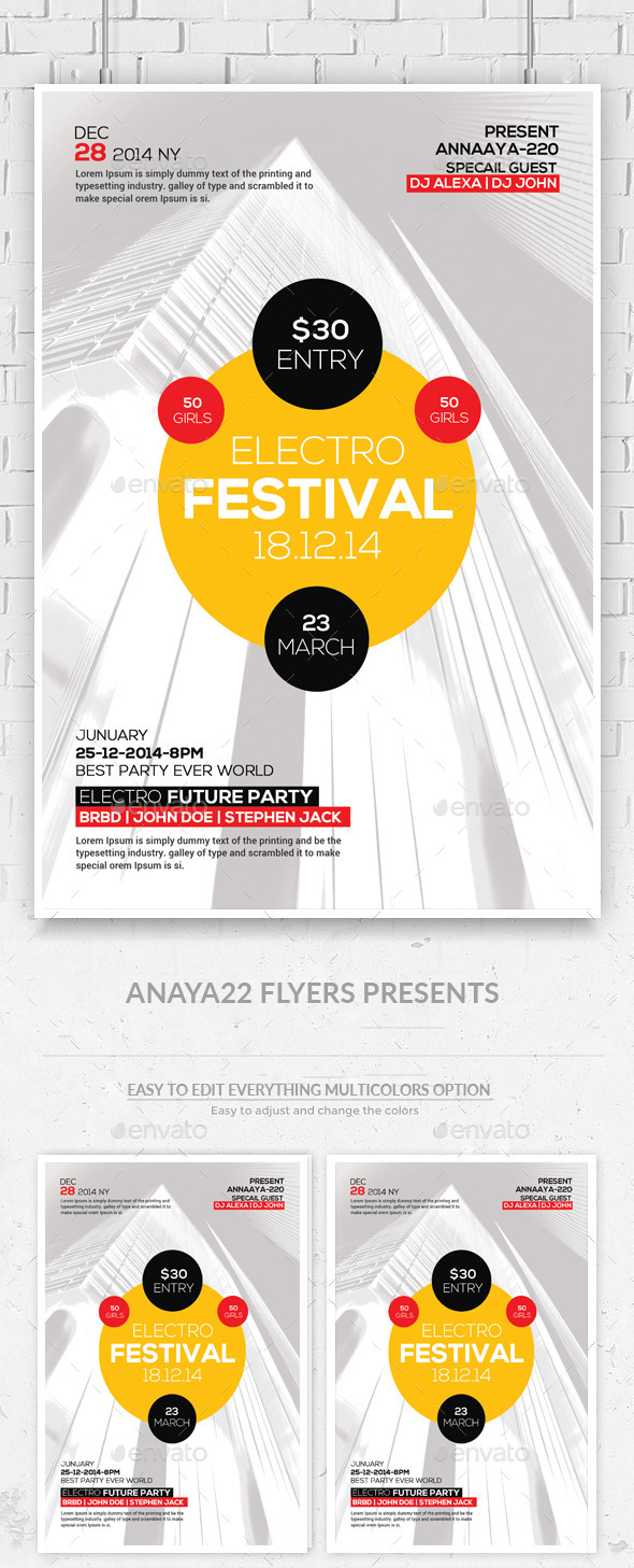 GraphicRiver Experimental Music Festival Flyer 11363073