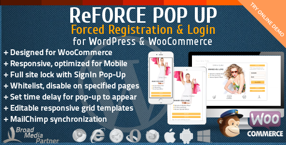 CodeCanyon ReForce User Registration Pop-Up 11363093