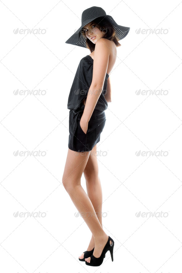 Sexy brunette - Stock Photo - Images