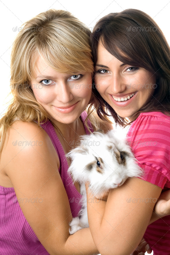 Two cheerful women - Stock Photo - Images