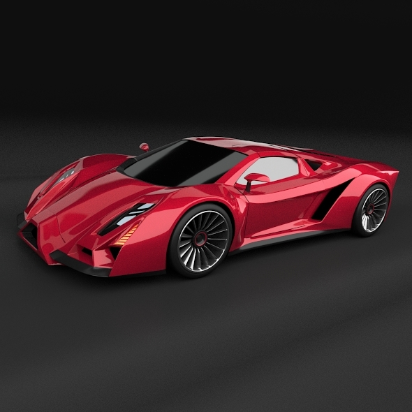 Exonis supercar concept - 3DOcean Item for Sale