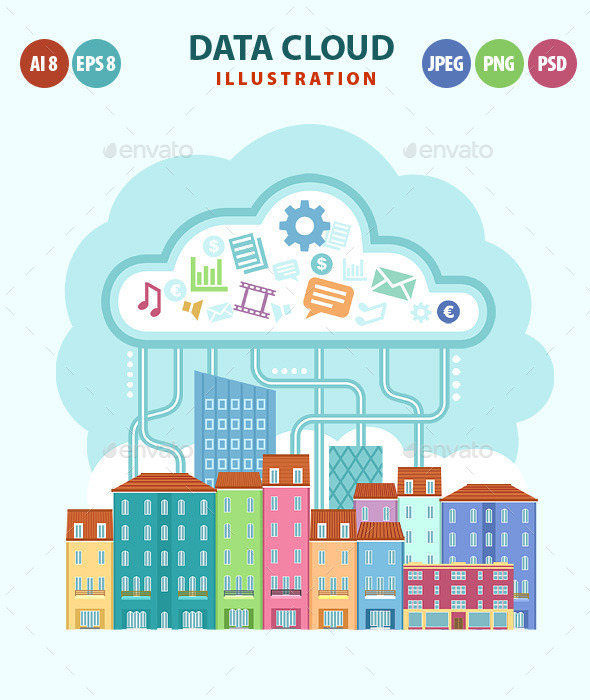 GraphicRiver Data Cloud 11363333