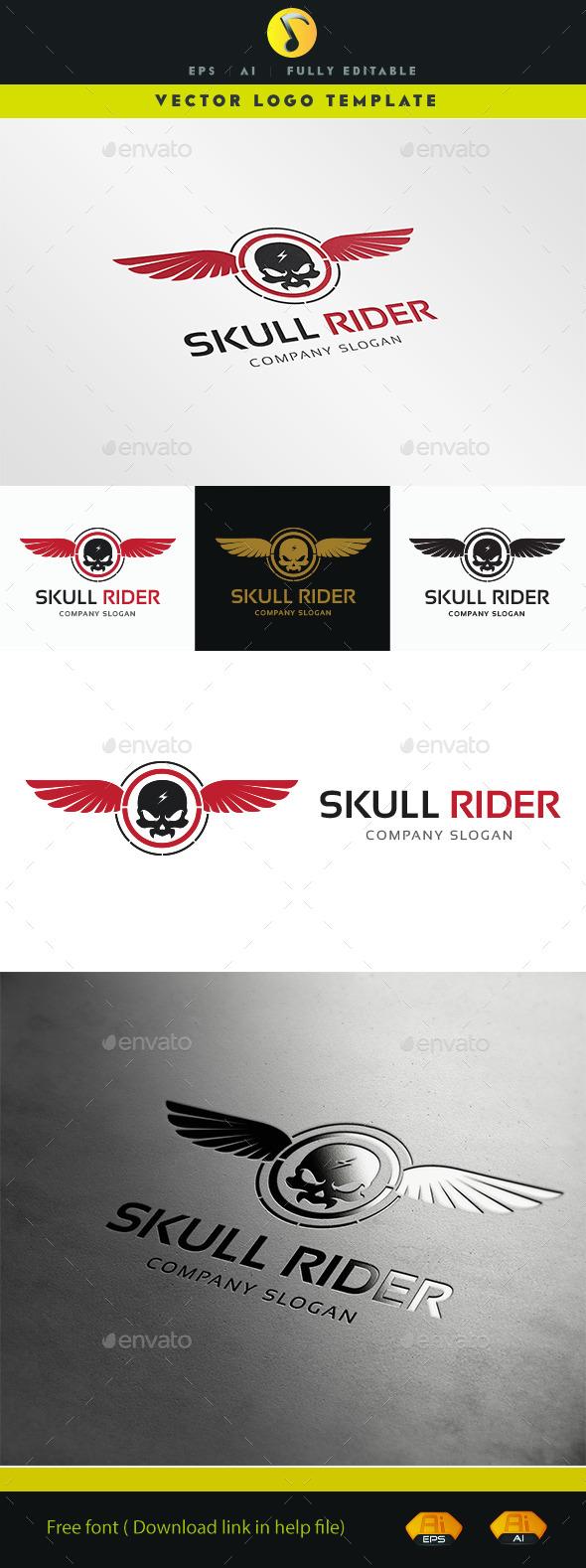 GraphicRiver Skull Rider Logo 11363490