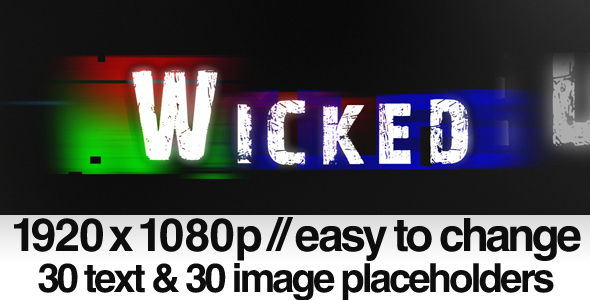 After Effects Project - VideoHive Wicked Bad TV Signal Noise 140215