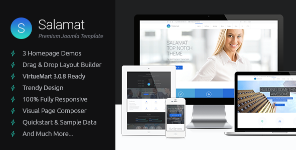 ThemeForest Salamat Multipurpose Business Joomla Template 11297216