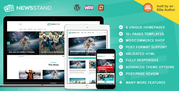 NewsStand - Magazine/Blog/Shop Wordpress Theme