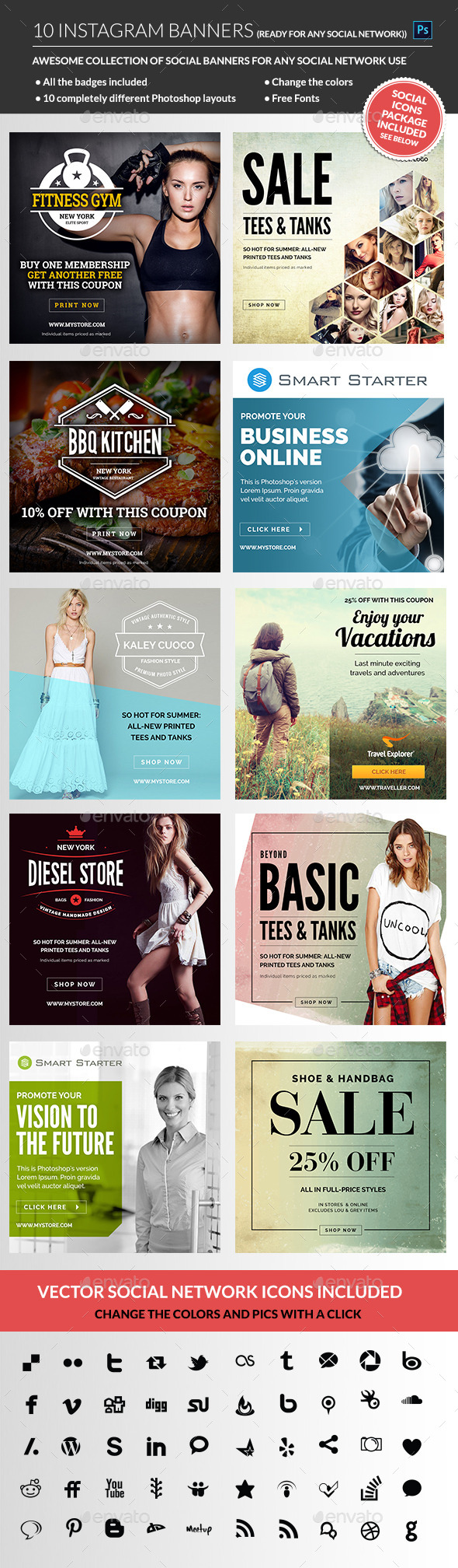GraphicRiver Instagram Banners 11331371