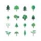 Tree Icon Set - GraphicRiver Item for Sale