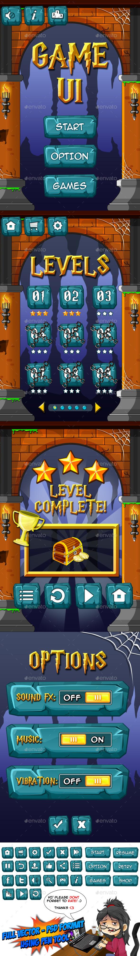 GraphicRiver Game UI 2 11363868