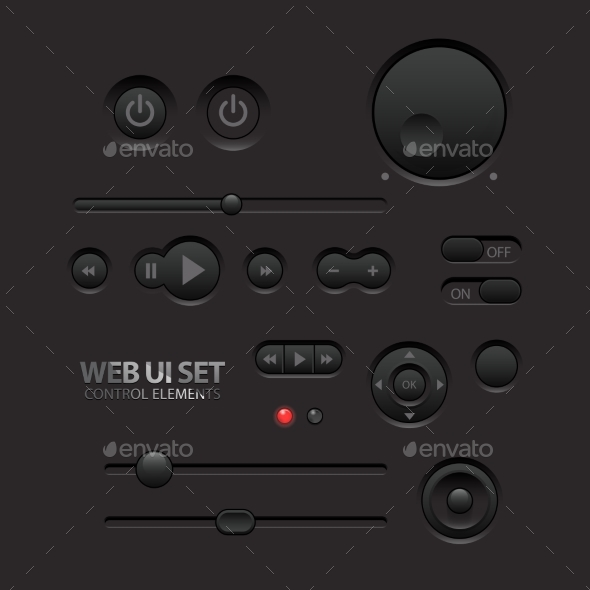 GraphicRiver Dark Web UI Elements 11363908