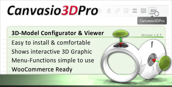 CodeCanyon 3D-Model Configurator & Viewer Canvasio3DPro 10631027
