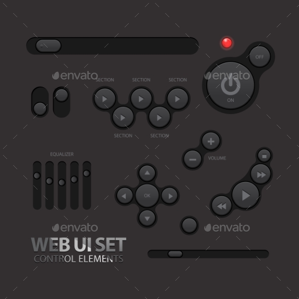 GraphicRiver Black Web UI Elements 11363910