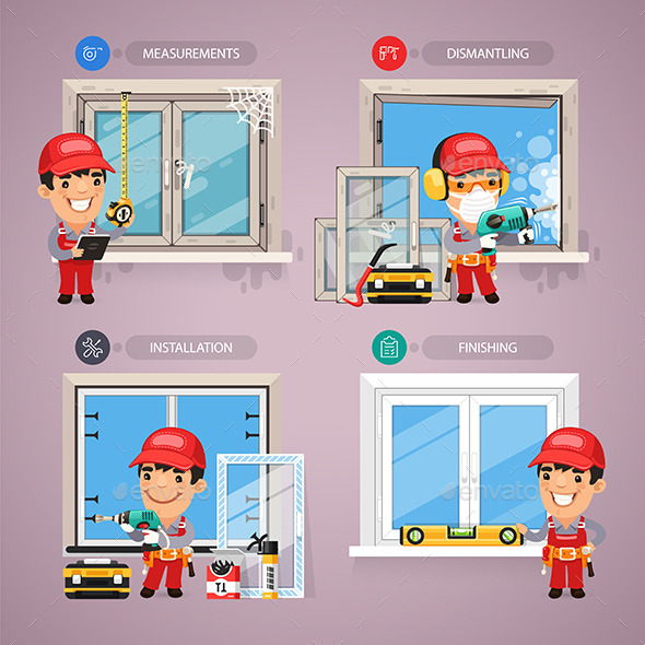 GraphicRiver Window Installation Step By Step With Handyman 11351065