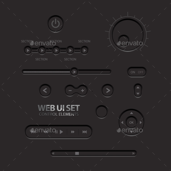 GraphicRiver Black Web UI Elements 11363918