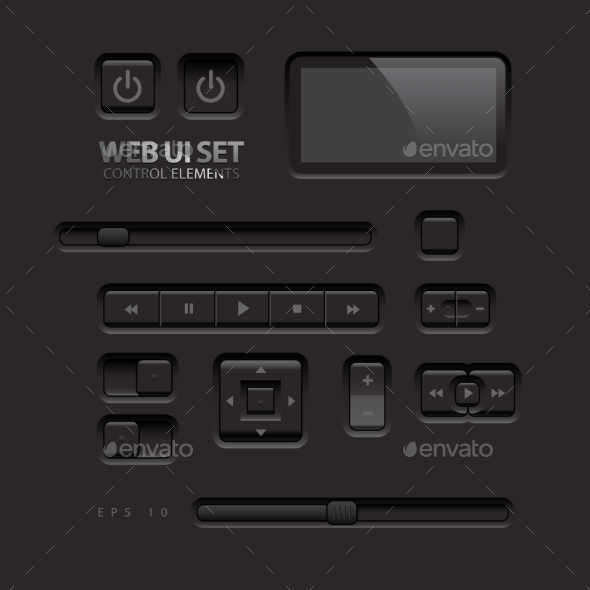 GraphicRiver Black Web UI Elements 11363927