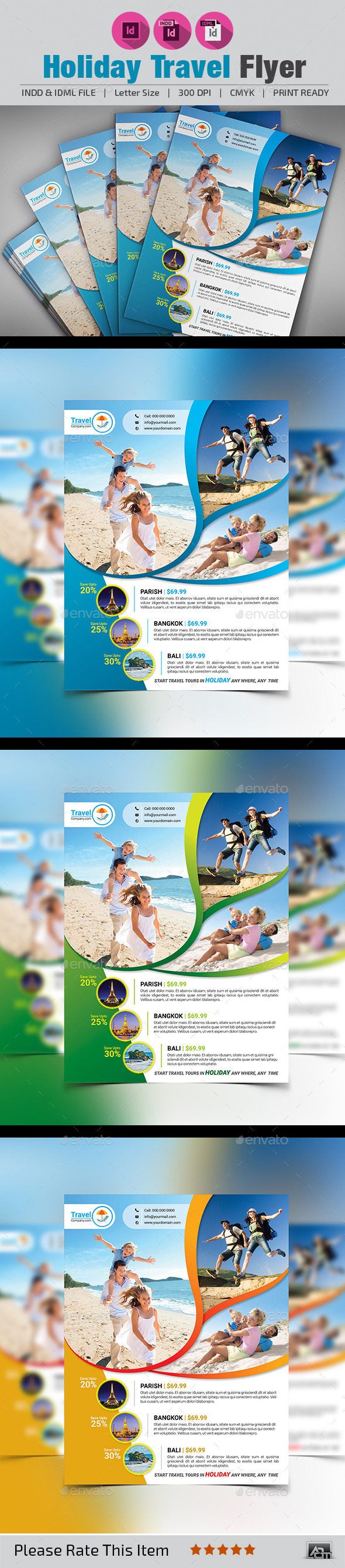 GraphicRiver Holiday Travel Flyer 11293844